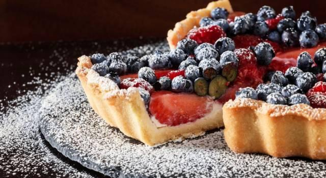 Buonissima e facile da preparare: è la crostata ai frutti di bosco