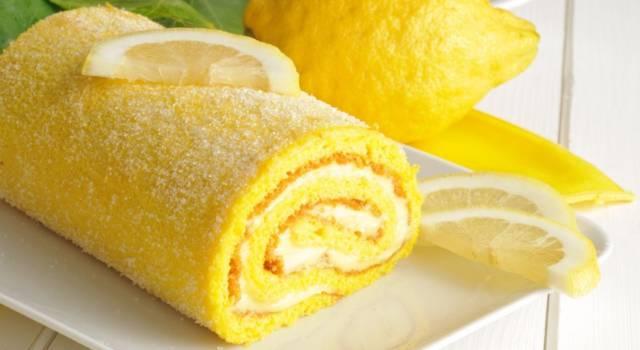 Rotolo al limone: fresco ed elegante da servire