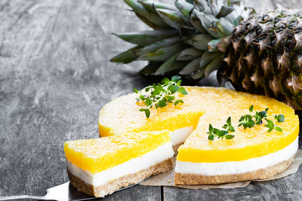 Cheesecake tropicale