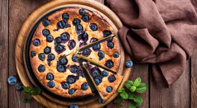 Torta ai mirtilli: alta, soffice e perfetta per la colazione!
