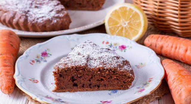 Facile, soffice e buonissima: è la torta carote e cioccolato!