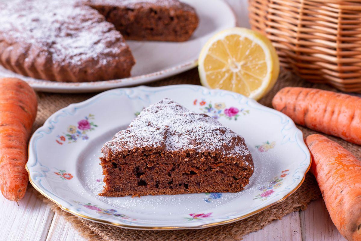 torta carote e cioccolato