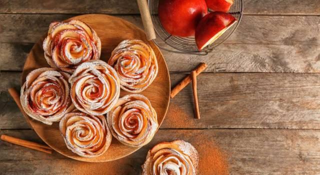 Scenografiche e facili da fare: sono le rose di mele!