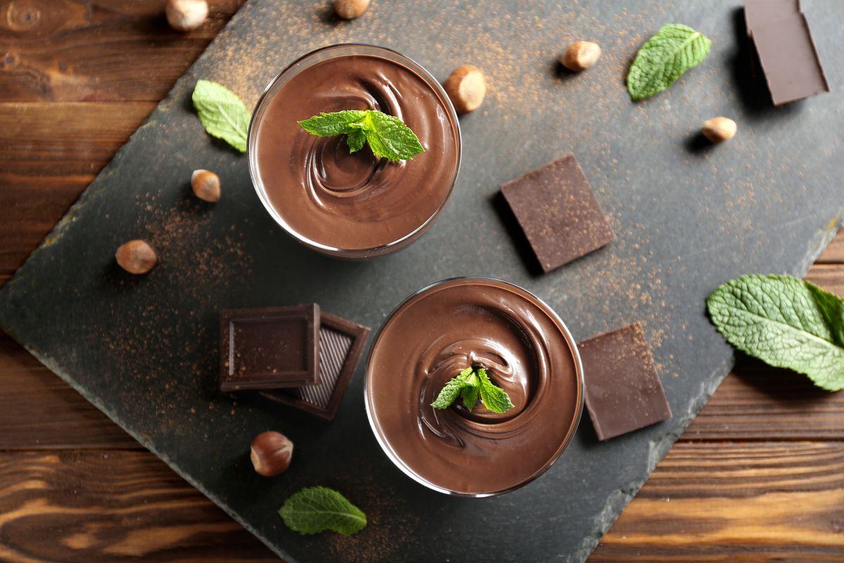 mousse di cioccolato all acqua