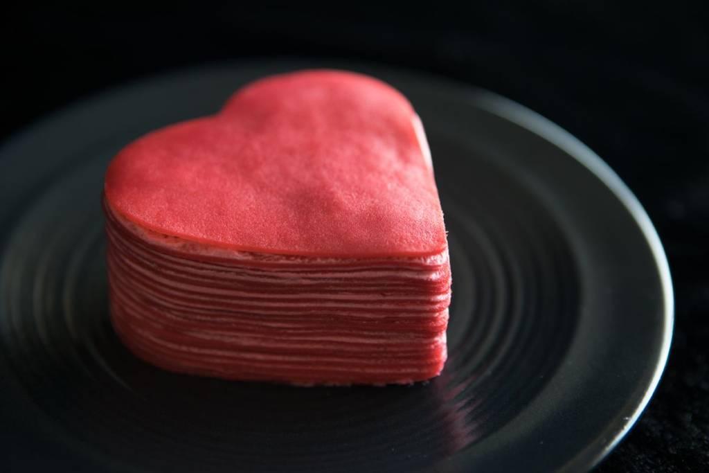 crepes a forma di cuore