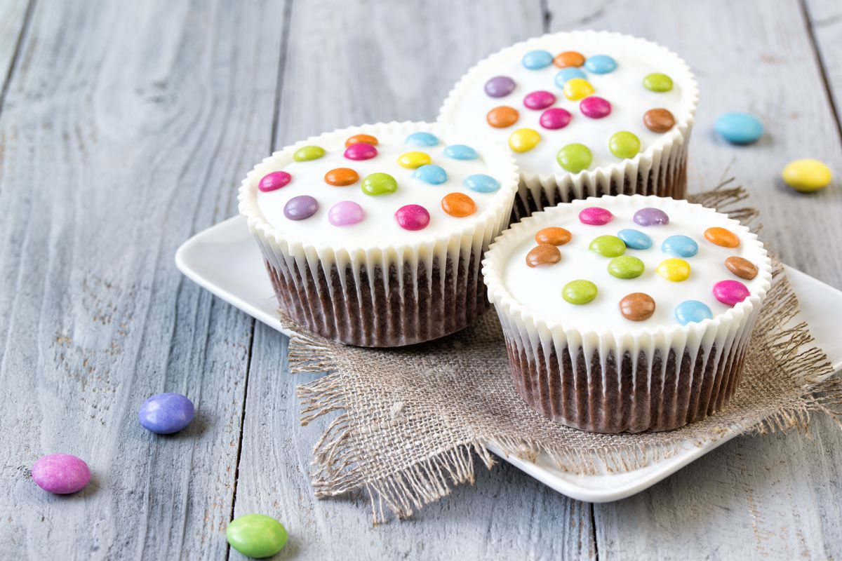 muffin con smarties