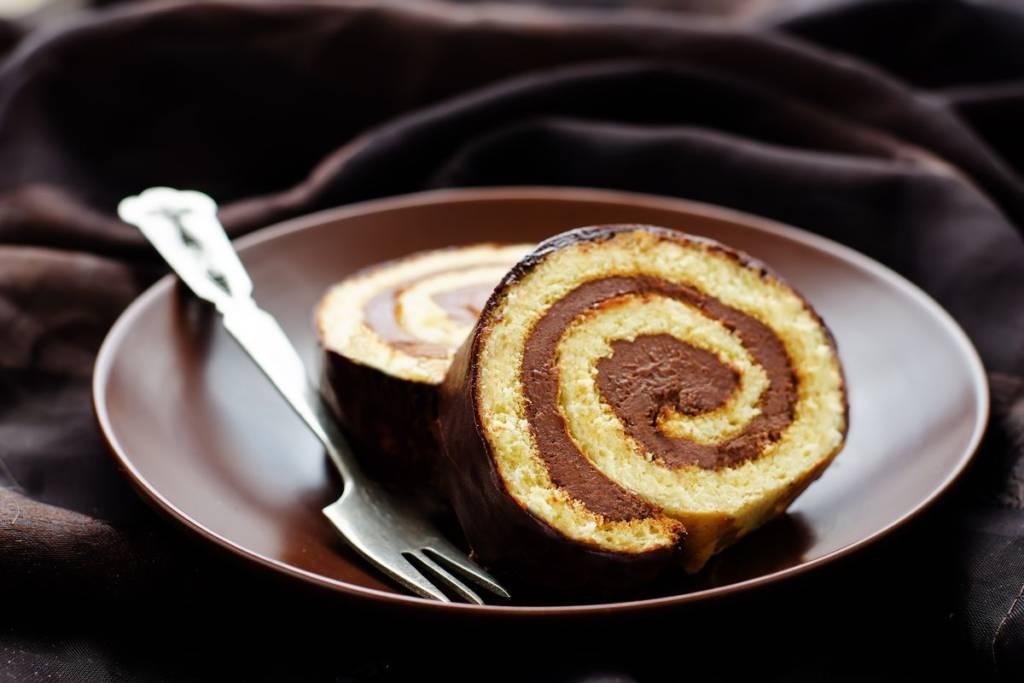 rotolo al cioccolato con nutella