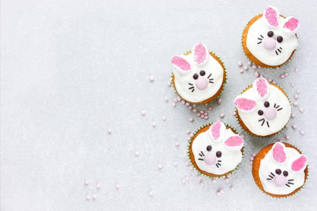 cupcake a forma di coniglietto
