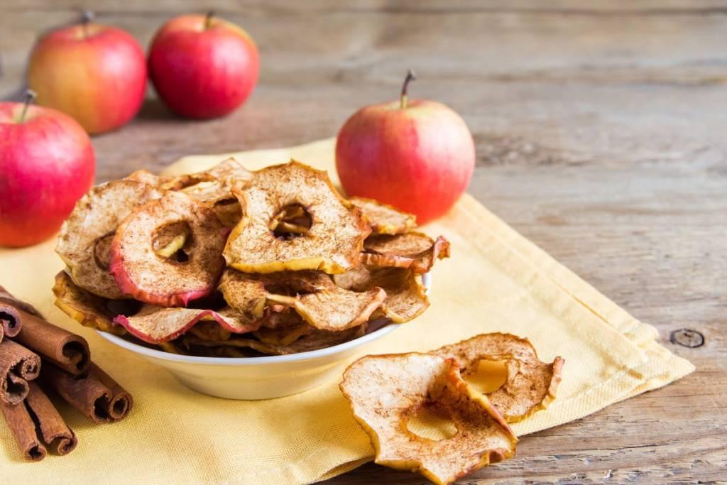 mele essiccate al microonde