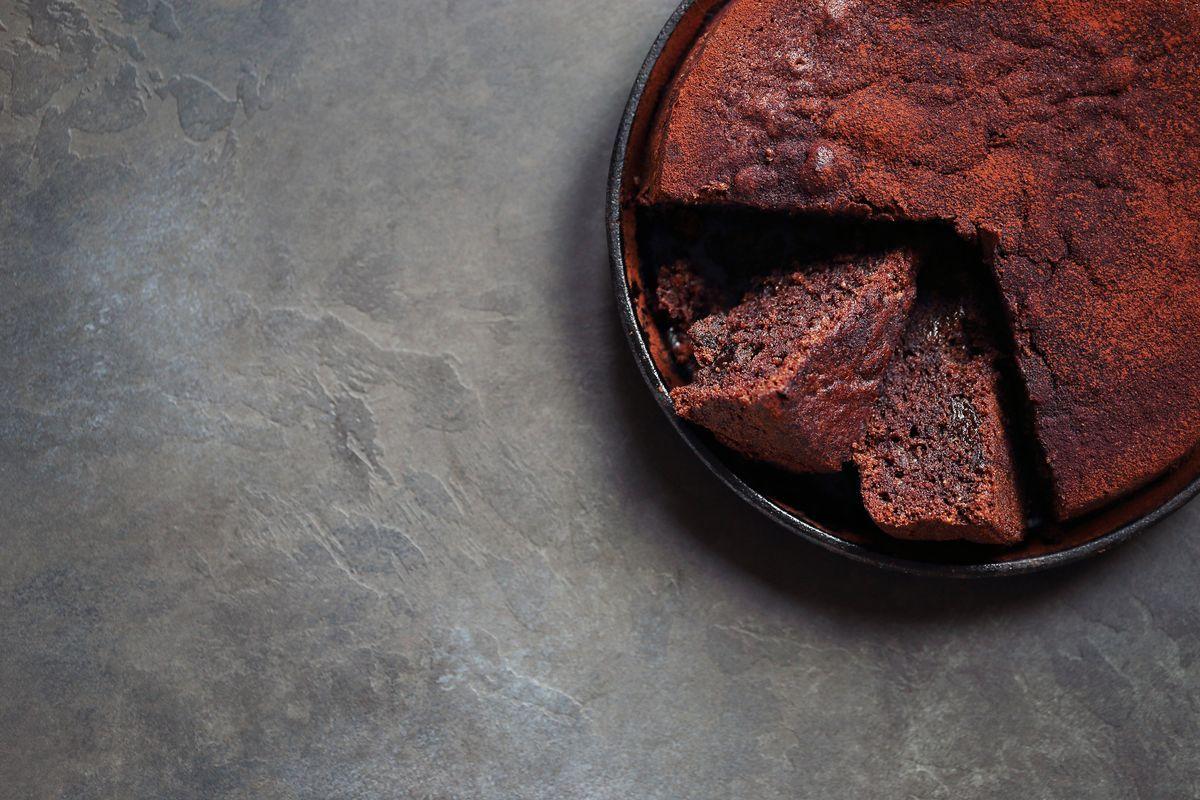Torta di fagioli e cioccolato