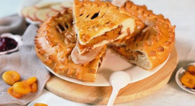 Crostata chiusa con albicocche: facile, morbidissima e super golosa
