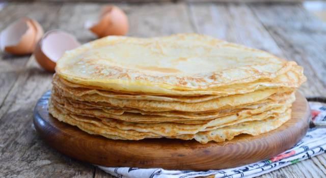 Crêpes senza burro, la versione light dell'amato dolcetto facile e veloce!