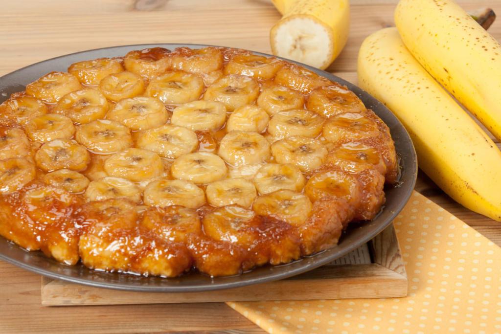 Torta di banane rovesciata
