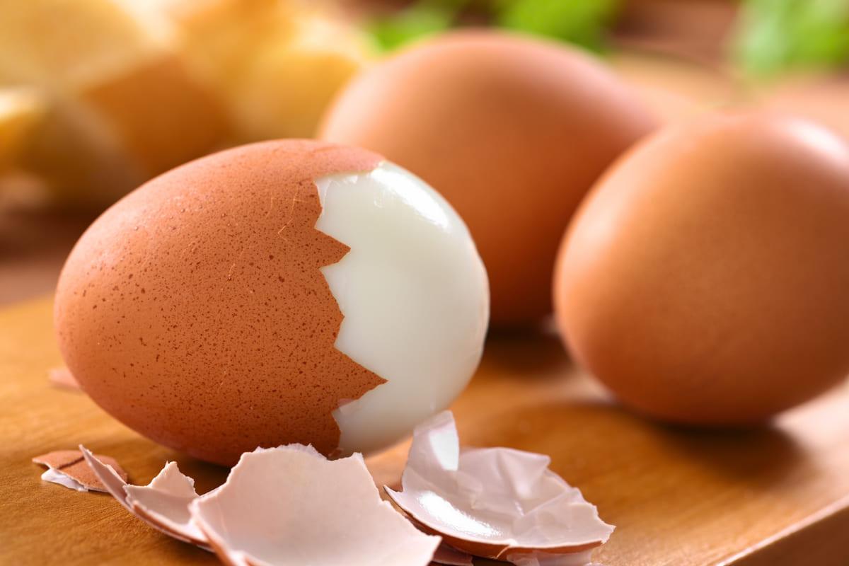 Sgusciare uova sode