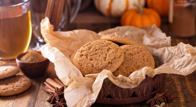 Tutto il sapore dell'autunno nei morbidi biscotti alla zucca