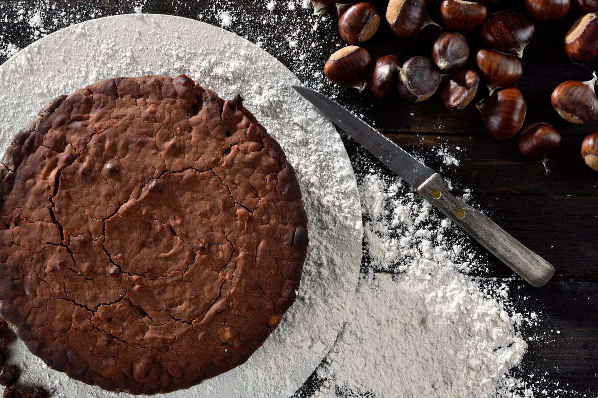 Torta castagne e cioccolato
